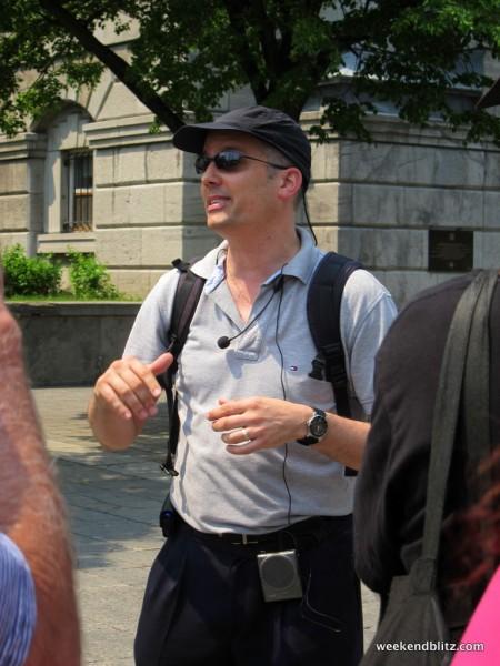 Our boy Martin, tour guide extraordinaire