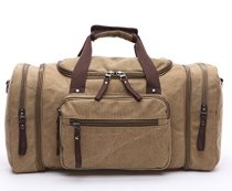 Leaper-Weekender-Handgepck-Reisetasche-Canvas-Segeltuch-Sporttasche-Umhngertasche-Handtasche-fr-Reise-am-Wochenende-Urlaub-0