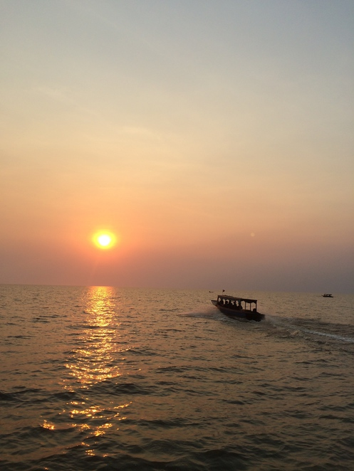 tonle sap, siem reap, cambodia, dry season, sunset, lake, river, floating