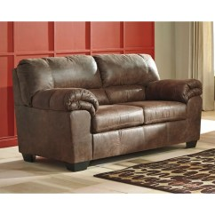 Ashley Faux Leather Sofa Reviews Kc Sofas Sheffield Bladen Brown Padded Arm Loveseat Weekends Only Storewide Sell Off