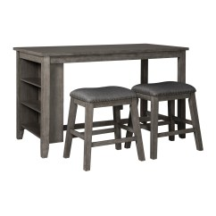 3 Piece Outdoor Table And Chairs Rolling Desk Chair Dining Room Sets Weekends Only Ashley Caitbrook Antiqued Gray Counter Set