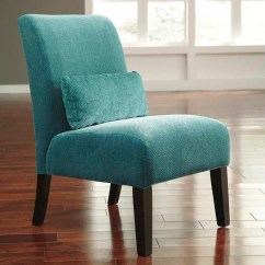 Teal Colored Chairs Kids Sofa Ashley Annora Blue Armless Accent Chair Weekends Only Furniture
