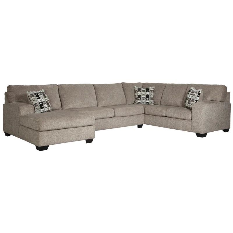 maier 2 piece gray right facing chaise