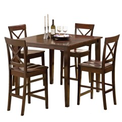 Outdoor High Top Table And Chairs Set White Computer Chair Dining Room Sets Weekends Only Cobalt 5 Piece Counter