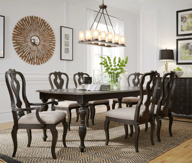 Chesapeake Brushed Black 7 Piece Dining Set