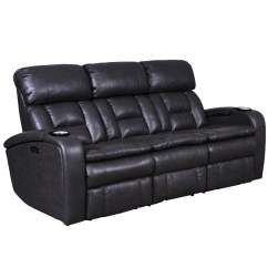 Leather Chair Bed Sleeper Black Wicker Dining Chairs Sofas Beds Love Seats Weekends Only Optimus Power Reclining Sofa With Headrest