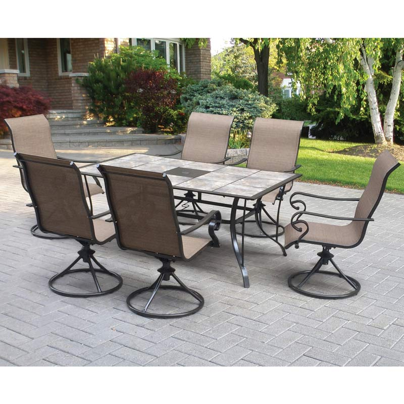 table with swivel chairs wheelchair zumba dvd lakeside tile 6 weekends only furniture