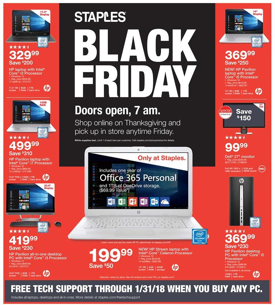 Staples Black Friday Ad 2017