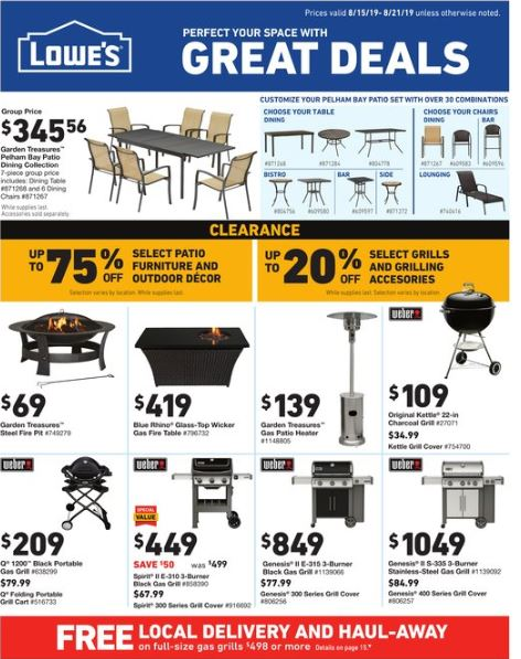 Lowes Ad Aug 15  21 2019