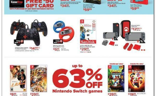 Gamestop Black Friday Ad Sale 2019