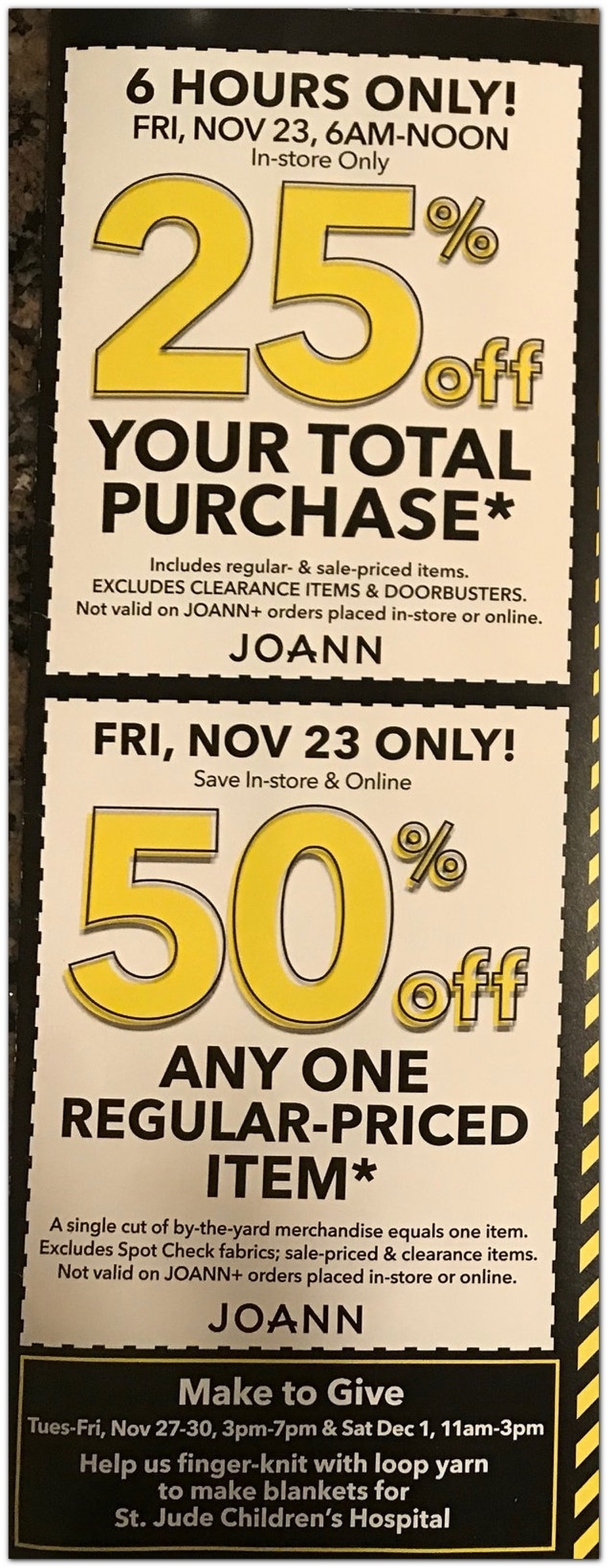Joanns Black Friday Ad