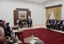 J Street leaders meet with Mahmoud Abbas