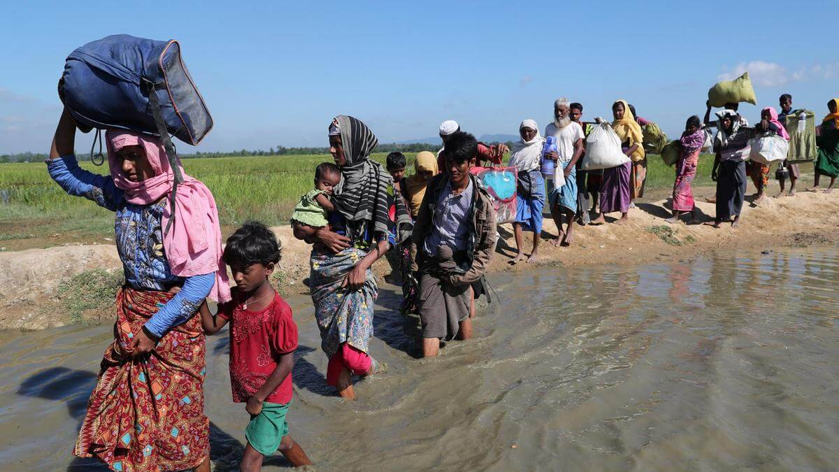 Does Bangladesh enjoy Indian support in resolving Rohingya refugee