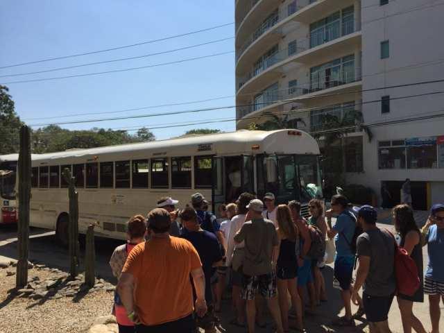 beach pool crawl bus
