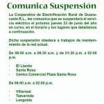 No electricity for Tamarindo on Thursday morning