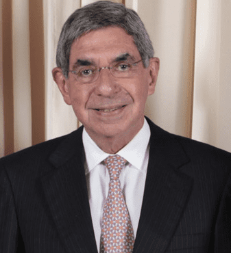 Original bad ass, Oscar Arias, former president of Costa Rica and Nobel Peace prize winner.