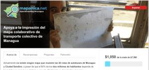 Apoya a la impresión del mapa colaborativo de transporte colectivo de Managua