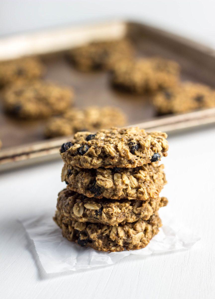 Gluten Free Blueberry Oatmeal Cookies