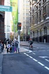 Cycliste urbain à Sydney