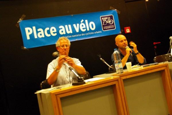 Nantes, débat sur la place du vélo en ville, avec Olivier Razemon