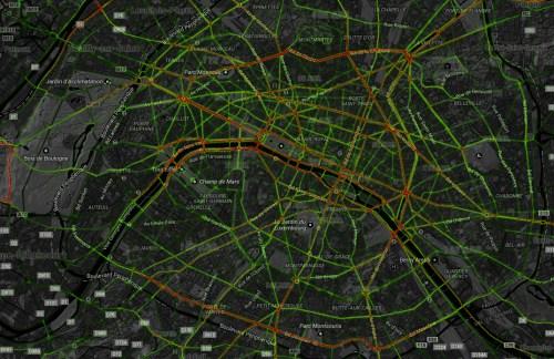 Strava Heatmap Paris