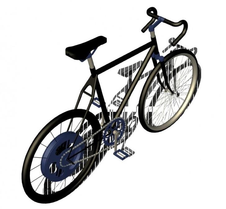 CussC, le vélo à relance mécanique