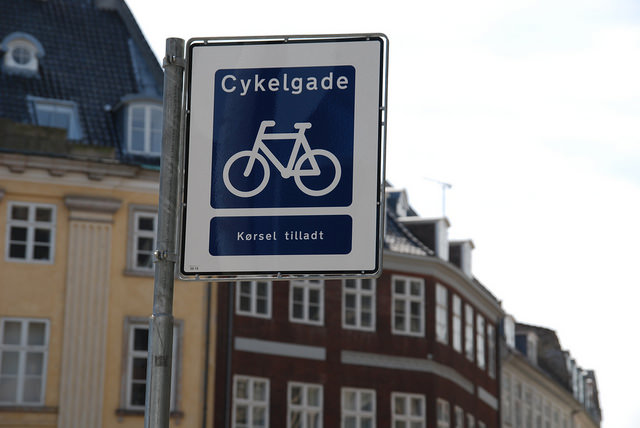 Et Copenhague inventa la rue cycliste