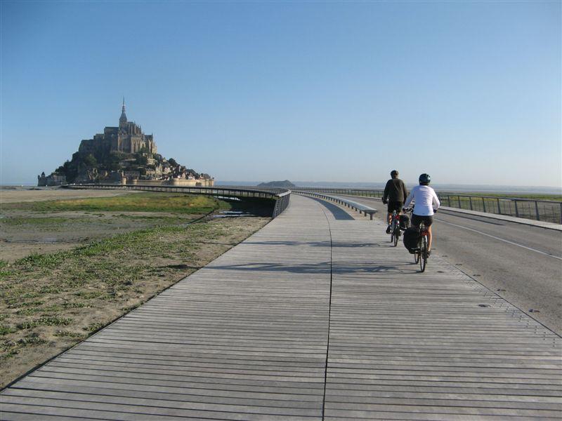 Les cyclistes toujours interdits d'accès au Mont Saint-Michel