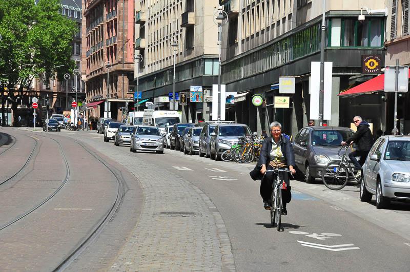 Strasbourg, la première vélorue de France inaugurée