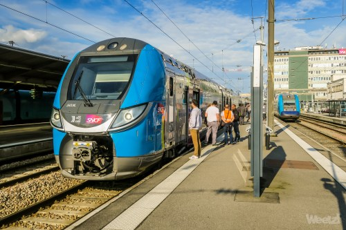 Weelz Inauguration TER Pays De Loire Regio2N V200 Jumbo Velo 2491