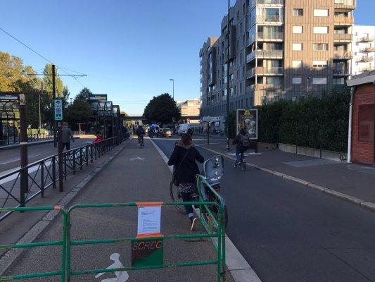 Nantes, on ferme les pistes cyclables pour travaux...