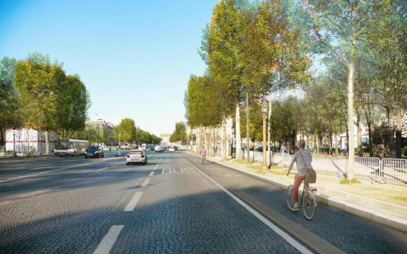 Paris : la future piste cyclable des Champs-Elysées