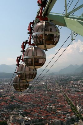 Grenoble Cable Cars View From Bastille