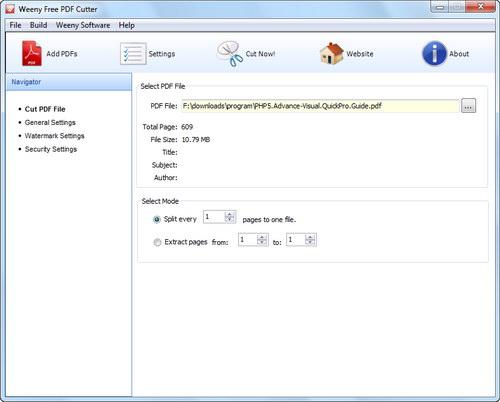 免費PDF切割器下載