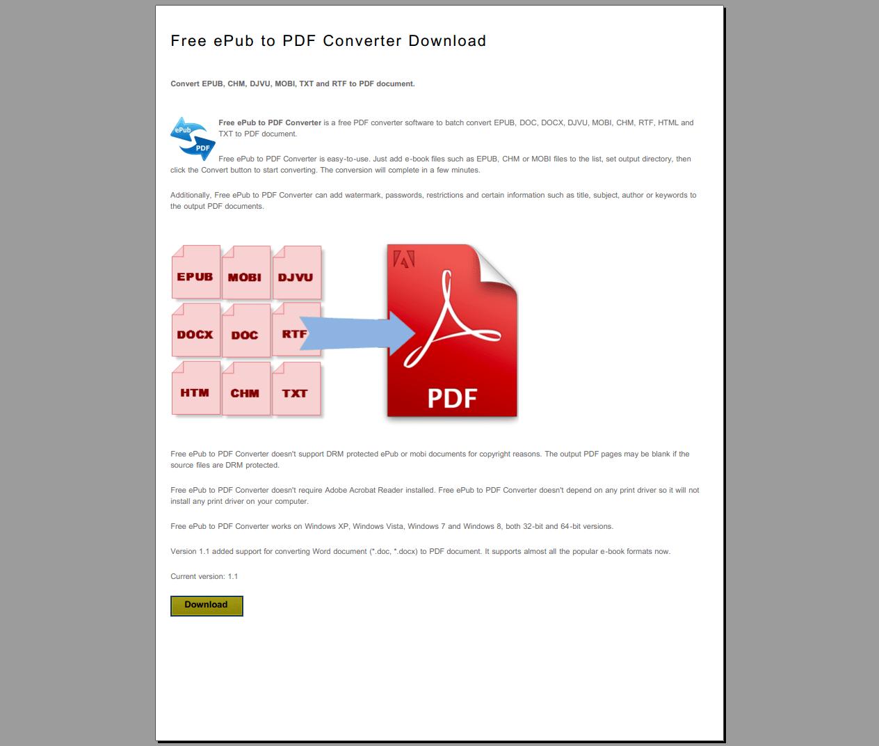Free PDF to Image Converter Download  Conversion samples