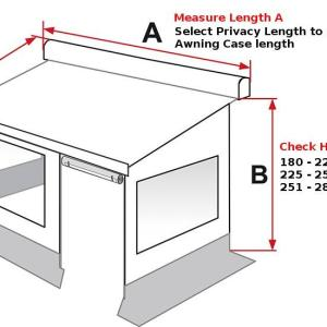How to measure up Fiamma Privacy Room F45 - We Fit Leisure