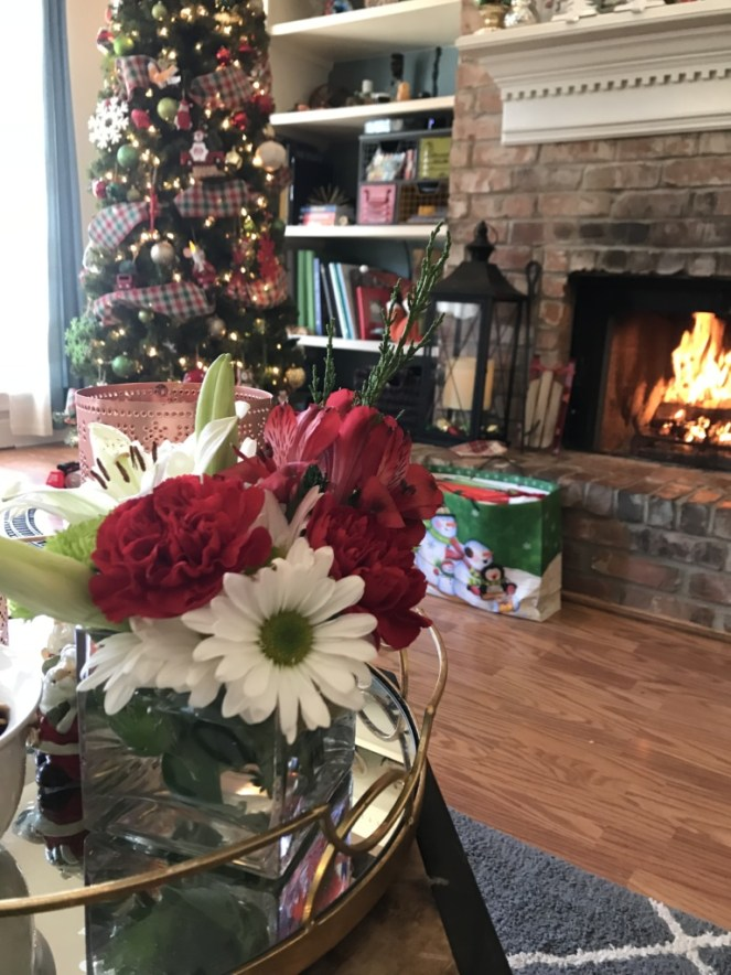 Hearth and Christmas decorations