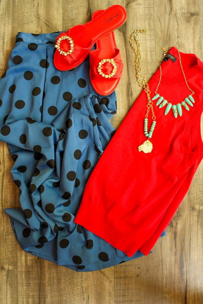 Red and Blue outfit  - 6 bright color combos for summer