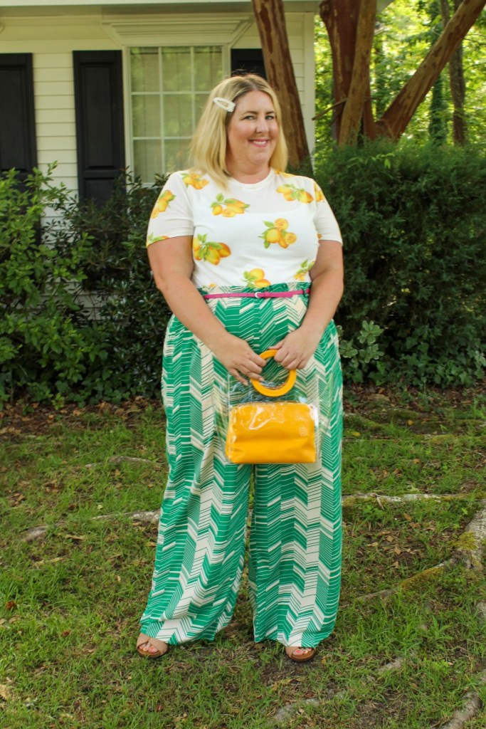 Tiffany in a Green and yellow outfit - 6 bright color combos for summer