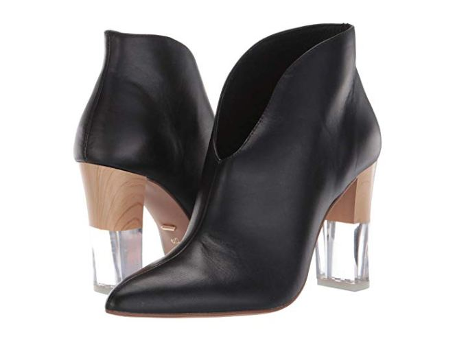 Black 42 Gold Kisses low profile booties