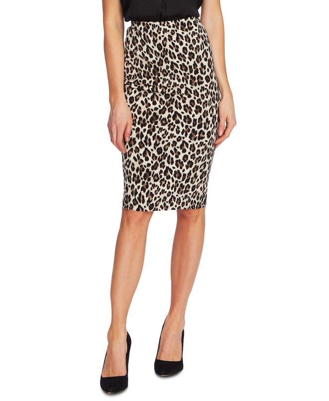Macy's Leopard Print Skirt