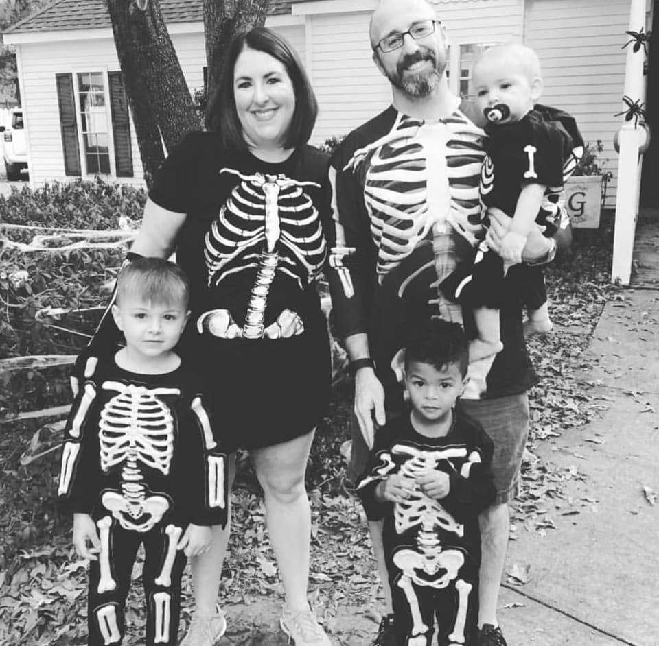King Family skeleton costumes