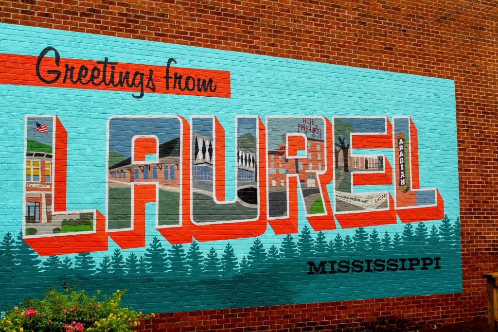 Greetings from Laurel mural