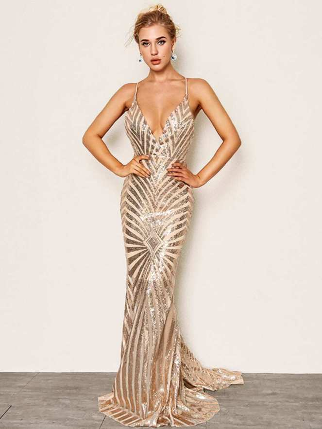Shein Gold Ball Gown