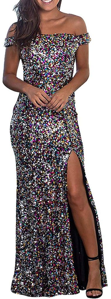 Amazon Sequin Formal Gown