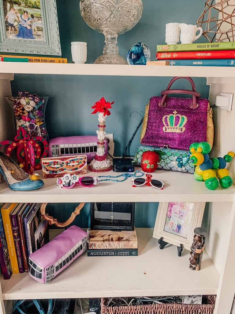 Mardi Gras Decorative Shelf