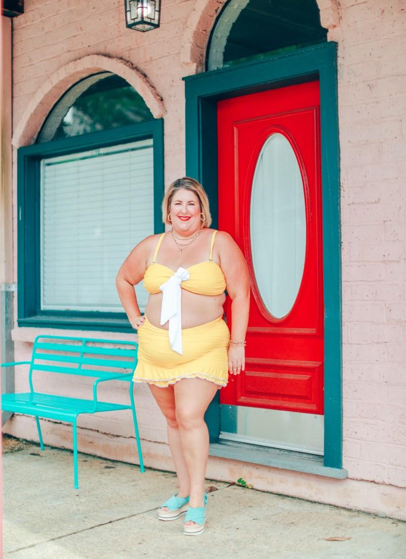 A Yellow Polka Dot Bikini