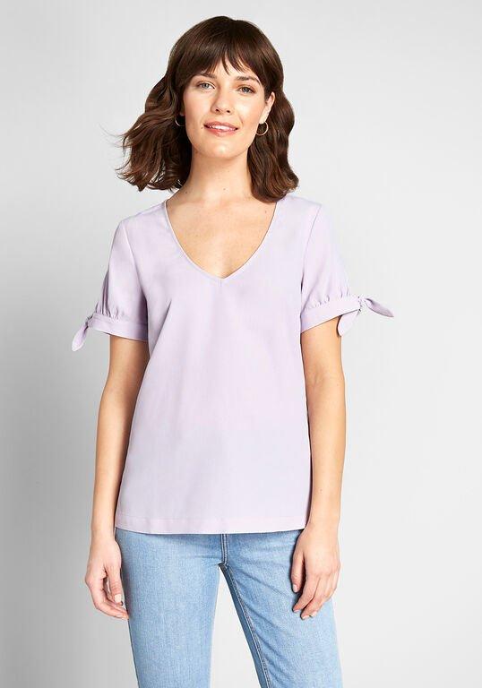 ModCloth lavender blouse
