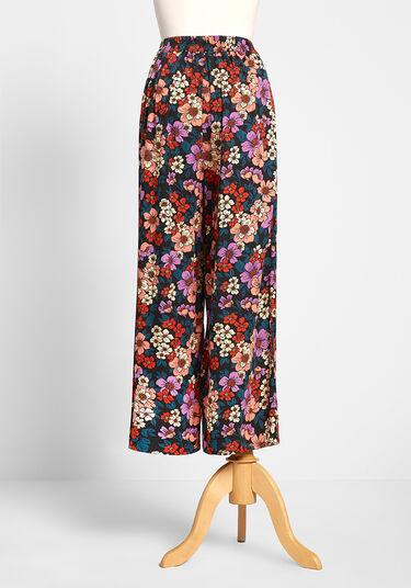 ModCloth Orange Cropped Floral Pants