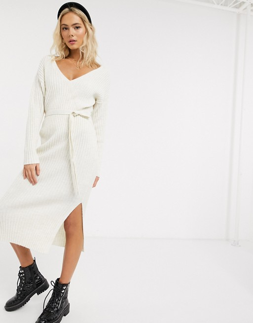 ASOS White Sweater Dress